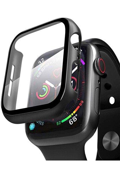 TahTicMer Apple Watch 44mm Tpu Çerçeveli Ekran Koruyuculu Ön Çerçeve Kılıf Hediyeli