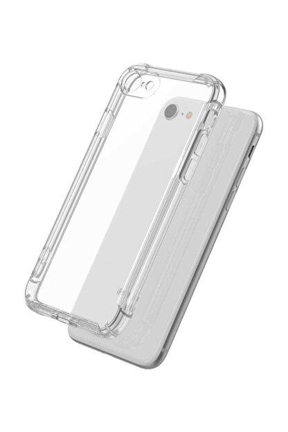 Ally Mobile Iphone Se2 (2020) Iphone 8-7 Anti-drop Darbe Emici Silikon Kılıf Shockproof Kılıf - Şeffaf