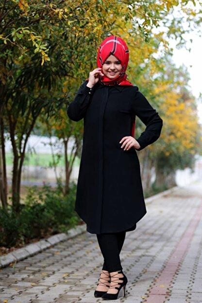 SALİHA Kadın Siyah Elit Tunik