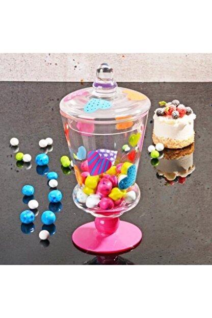 Homekolik Cam Kapaklı Kalp Fanus Draje Şekerlik Sunumluk