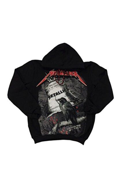 Orçun Özkarlıklı Unisex Siyah Metallica Sweatshirt