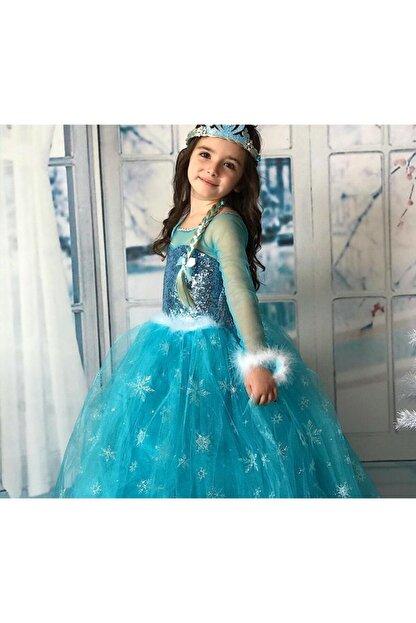 Kids Tarlatanlı Frozen Elsa Kostümü