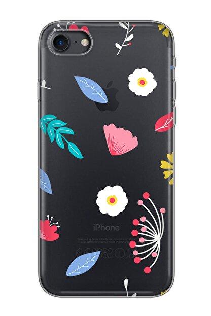 Mobilteam Siyah Apple Iphone 7 Baskılı Silikon Telefon Kılıfı
