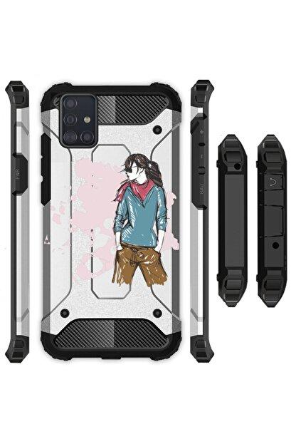 Cekuonline Samsung Galaxy A31 Kılıf Desenli Antishock Crash Kapak - Relax Kız