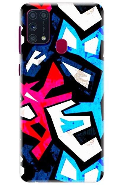 Noprin Samsung Galaxy M31 Kılıf Silikon Baskılı Desenli Arka Kapak