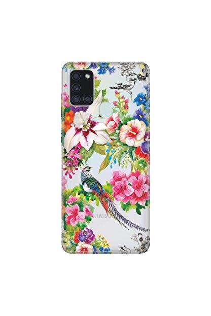 Cekuonline Samsung Galaxy A21s Kuş Cenneti Temalı Resimli Silikon Telefon Kılıfı