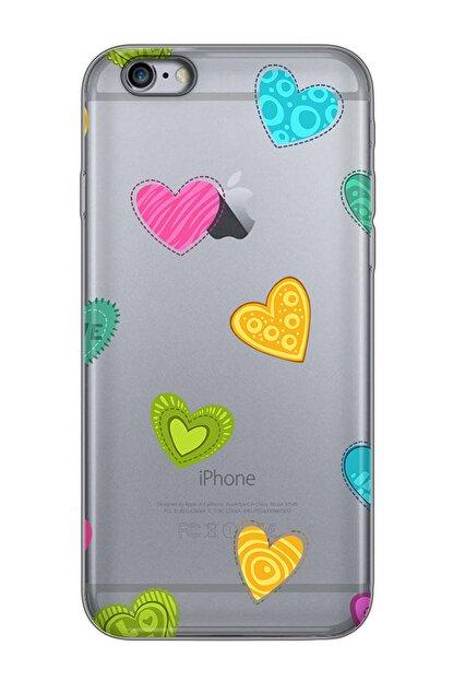Mobilteam Apple Iphone 6s Space Gray Baskılı Silikon Telefon Kılıfı