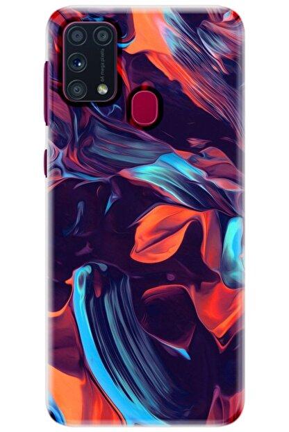 Turkiyecepaksesuar Samsung Galaxy M31 Kılıf Silikon Baskılı Desenli Arka Kapak