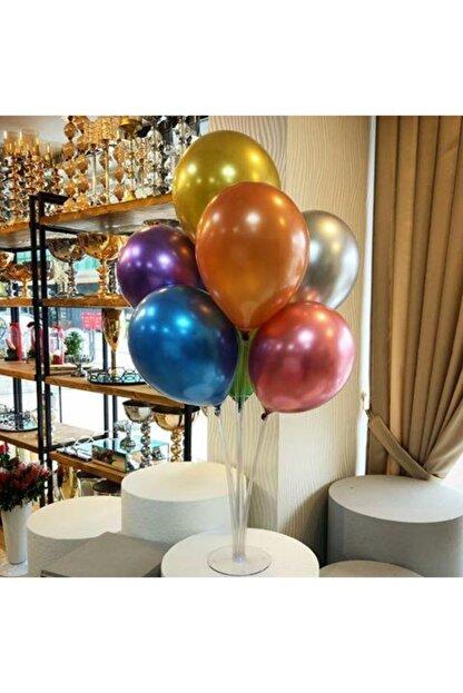 KullanAtParty Balon Standı 7 Adet Metalik Balon