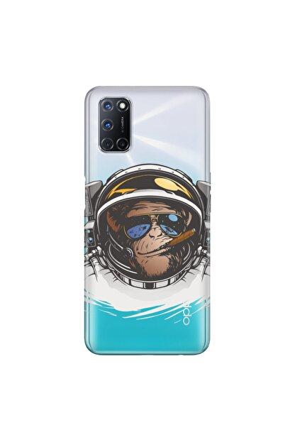 Cekuonline Oppo A72 Kılıf Temalı Resimli Silikon Telefon Kapak - Monkey Fly
