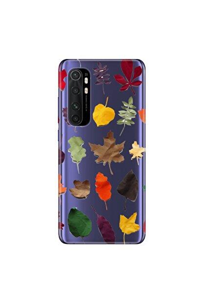 Cekuonline Xiaomi Mi Note 10 Lite Bahar Yaprakları Temalı Resimli Silikon Telefon Kapak