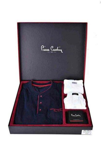 Pierre Cardin Damat Çeyiz Lacivert Pijama Çamaşır Set Takım 2000