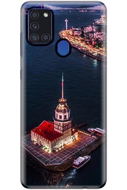Turkiyecepaksesuar Samsung Galaxy A21s Kılıf Silikon Baskılı Desenli Arka Kapak