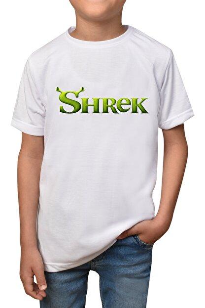 GiftStore Shrek- Beyaz Çocuk - Yetişkin Unisex T-shirt T-7