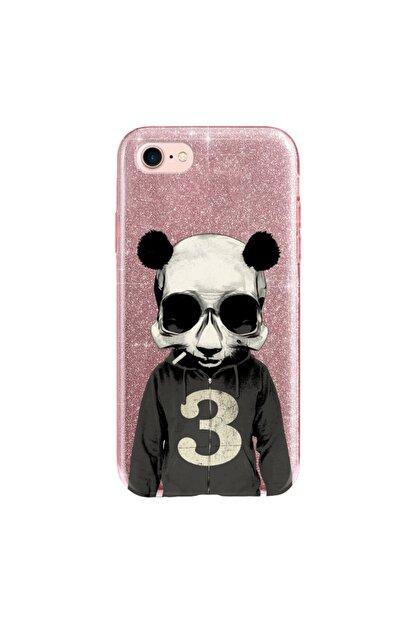 cupcase Iphone 5 Kılıf Simli Parlak Kapak Pembe Rose Gold - Stok661 - Skull Panda