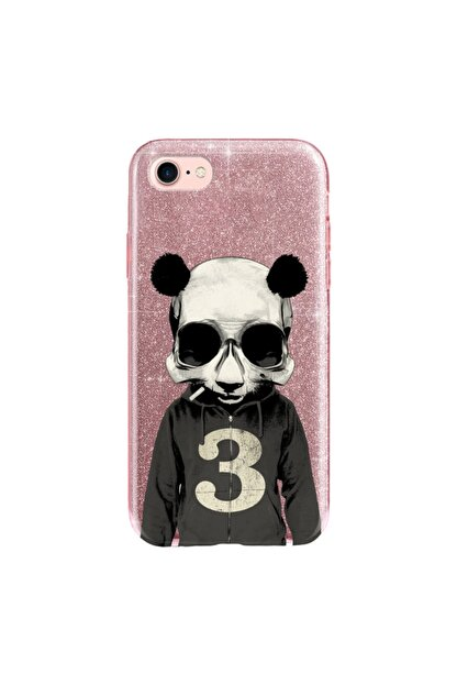 cupcase Iphone 6 Plus Kılıf Simli Parlak Kapak Pembe Rose Gold - Stok661 - Skull Panda