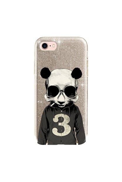 cupcase Iphone 5 Kılıf Simli Parlak Kapak Altın Gold Renk - Stok661 - Skull Panda