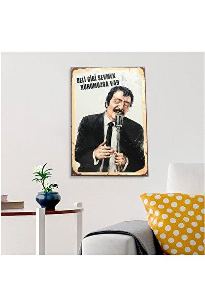 FERMAN HEDİYELİK Müslüm Gürses Ahşap Retro Poster 17,5 X 27,5 Cm