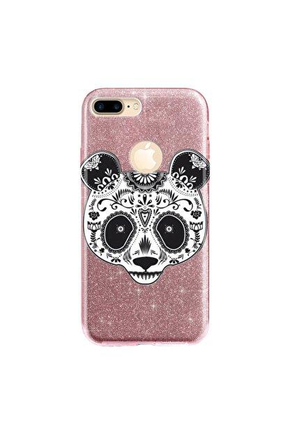 cupcase Iphone 7 Plus Kılıf Simli Parlak Kapak Pembe Rose Gold - Stok518 - Pandass