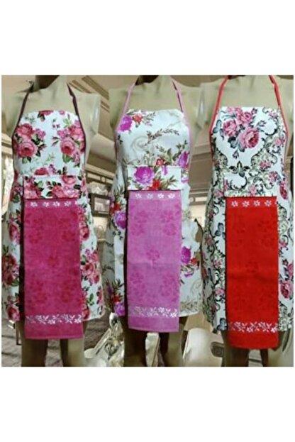 Çt Çeyizci Tekstil 2li Mutfak Önlüğü - Pembe