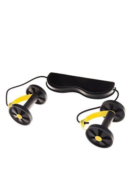 hobyflex Ayarlanabilir Kopmayan Lastikli Tekerlekli Sarı Egzersiz Spor Aleti