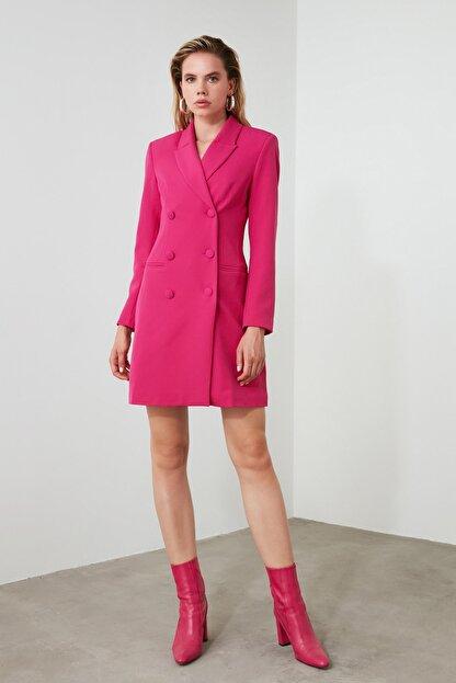 TRENDYOLMİLLA Fuşya Ceket Elbise TWOAW20EL0918