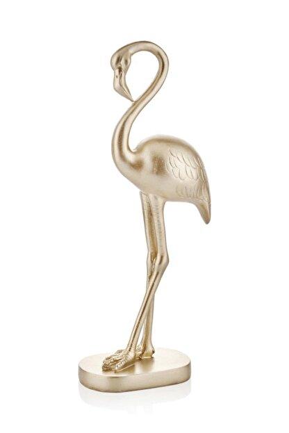 çiçekmisin Flamingo Masaüstü Dekoratif Ojbe 46 cm - Gold