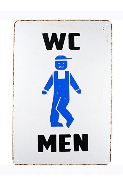 CARMA CONCEPT Wc Man ,20x30cm Retro Metal Tabela