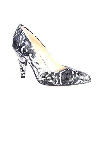 Dgn Kadın Gri Sivri Burun 11 Pont Topuklu Ayakkabı 20y 199