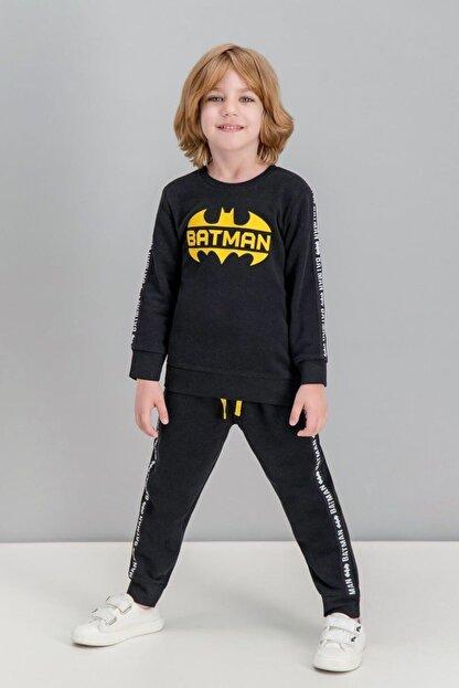 Batman Lisanslı Siyah Erkek Çocuk Eşofman Takımı