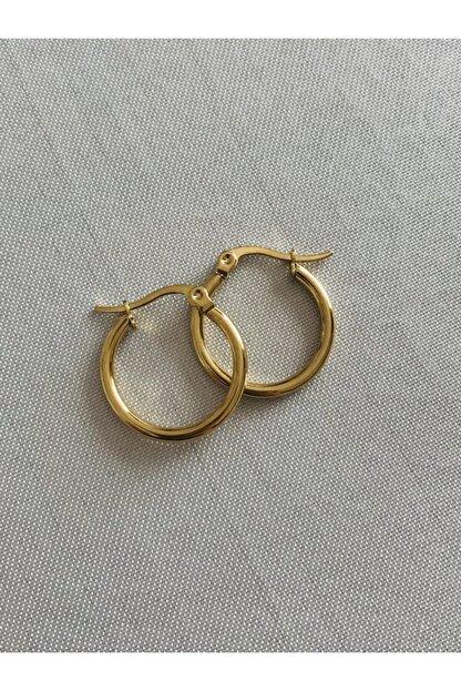 Hoop jewelery Çelik Mini Halka Küpe