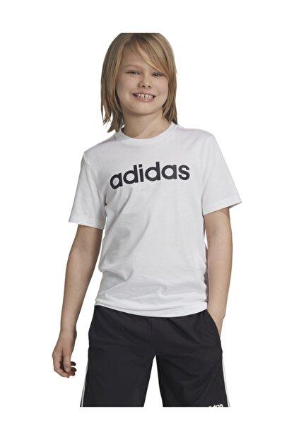 adidas YB E LIN TEE Beyaz Erkek Çocuk T-Shirt 101069004