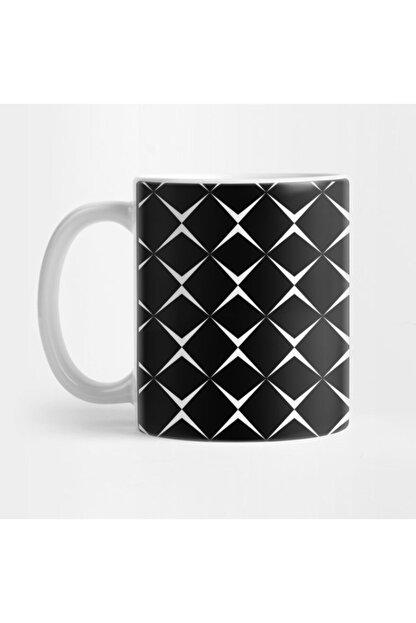 TatFast Black And White Square Pattern Kupa