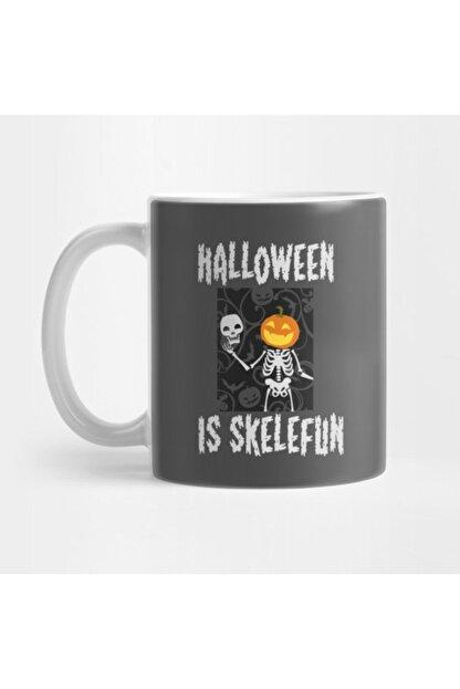TatFast Halloween Is Skelefun - Pumpkin - Skeleton Halloween Kupa