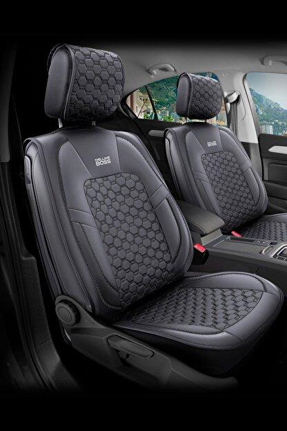 Deluxe Boss Ford Focus Uyumlu Deri Koltuk Kılıfı - Luxury Fit Diamond #dm15