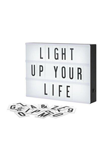 DizaynHediye Lightbox A4 Led Işık Işıklı Mesaj Panosu 96 Harf Light Box Pano