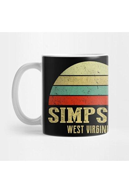 TatFast Sımpson, West Vırgınıa Vintage Retro Sunset Kupa
