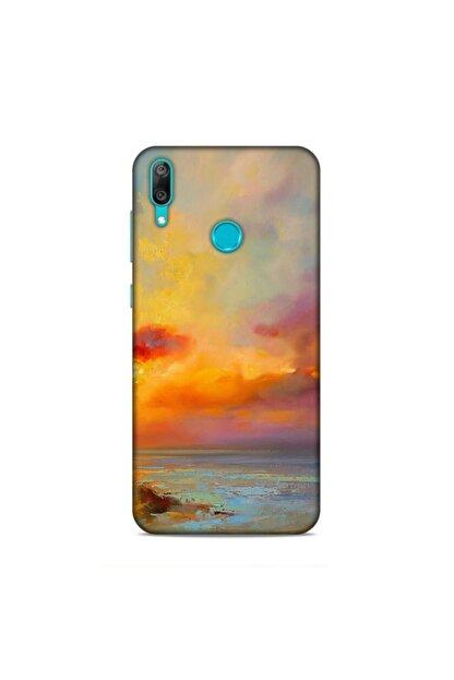 Pickcase Huawei Y7 Prime 2019 Kılıf Desenli Arka Kapak Gün Batımı