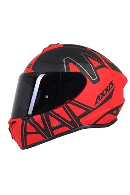 AXXIS Dekers Mat Kırmızı Kapalı Kask