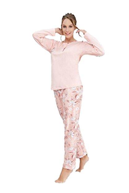 Çelebi Kadın Pudra Kışlık Pijama Takım 643