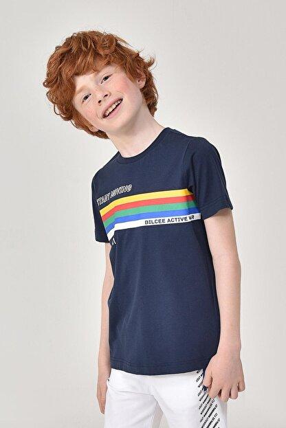 bilcee Unisex Çocuk Lacivert T-Shirt GS-8145