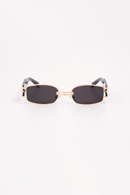 Kapin Retro Minimal Güneş Gözlüğü - Gold Siyah