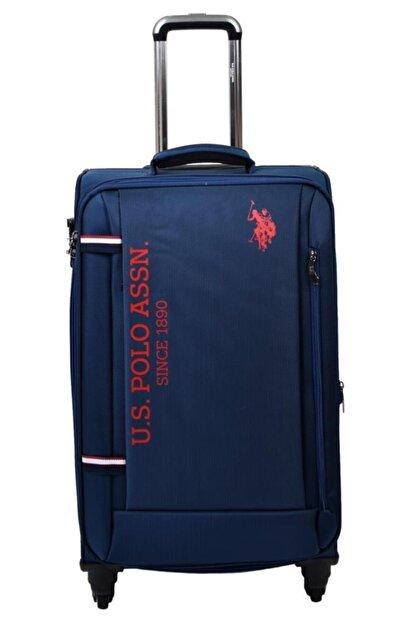 US Polo Assn Unisex Lacivert  Valiz Orta Boy Kumaş Valiz