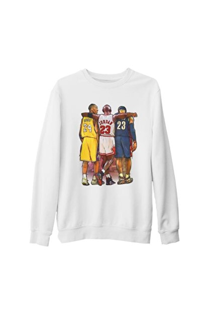 Lord T-Shirt Unisex Beyaz Basketball Jordan  James  Bryant Kalın Sweatshirt