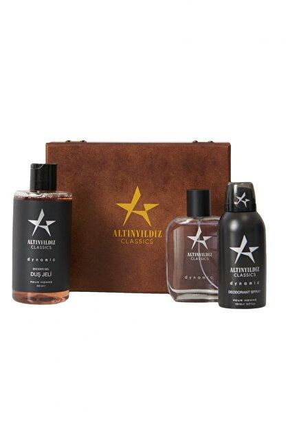 Altınyıldız Classics Erkek Siyah Parfüm Deodorant Duş Jeli Kişisel Bakım Seti