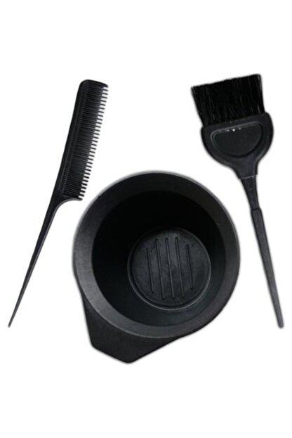 Nergizium Saç Boya Fırçası + Krepe Tarağı + Boya Kabı Saç Boyama Seti Boyamak Aparat Ekipman