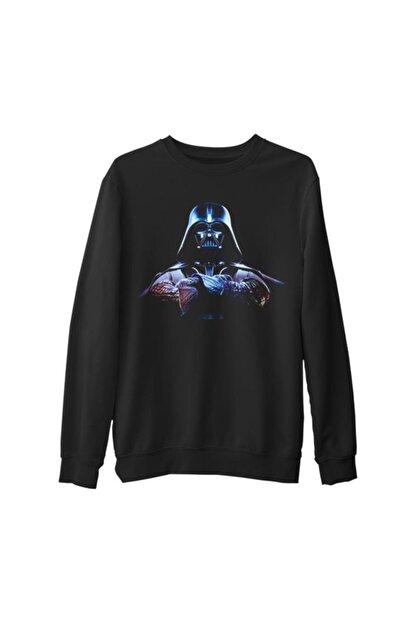 Lord T-Shirt Erkek Siyah Star Wars Darth Vader 3 Kalın Sweatshirt