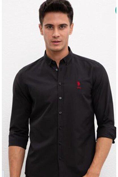 US Polo Assn Erkek Siyah Gömlek