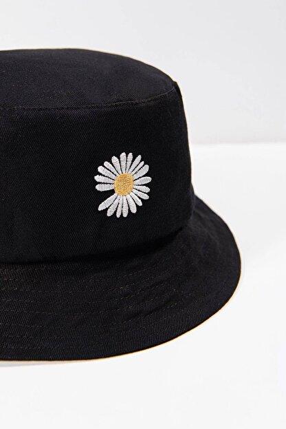 Addax Kadın Siyah Papatya Işlemeli Bucket Şapka Şpk1035 - F1 Adx-0000022885