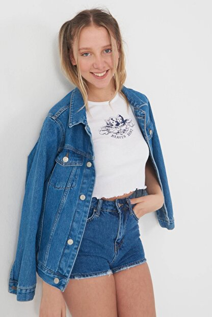 Addax Baskılı T-shirt P0854 - U3